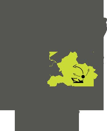 Kaart van de Achterhoek